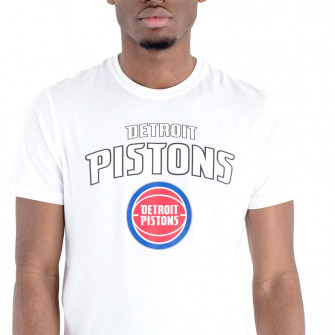 New Era NBA Detroit Pistons Team Logo T-Shirt ''White''