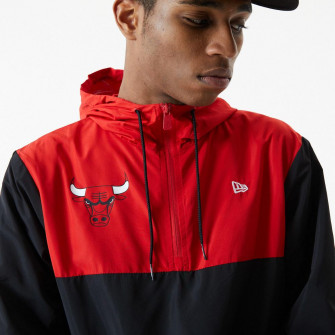 New Era NBA Chicago Bulls Colour Block Windbreaker ''Black/Red''