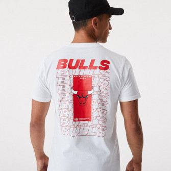 New Era NBA Chicago Bulls Repeat Logo T-Shirt ''White''