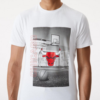 New Era NBA Chicago Bulls Photographic T-Shirt ''White''