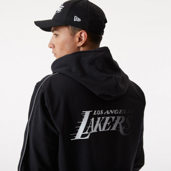New Era NBA Los Angeles Lakers Fade Logo Zip Hoodie ''Black''