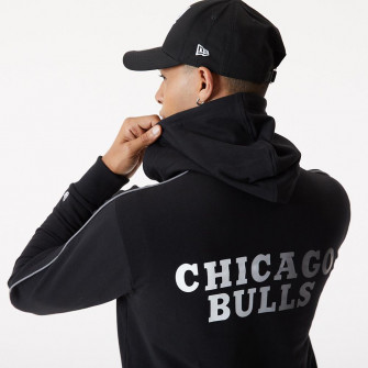 New Era NBA Chicago Bulls Fade Logo Hoodie ''Black''