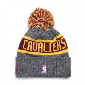 Kid's New Era Cleveland Caveliers NBA On Court Collection Pom Knit Hat