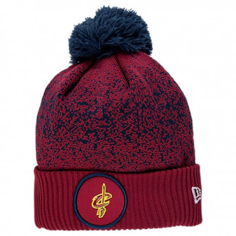 New Era Cleveland Caveliers NBA On Court Collection Pom Knit Hat